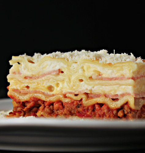 Lasagne s mesom i šunkom