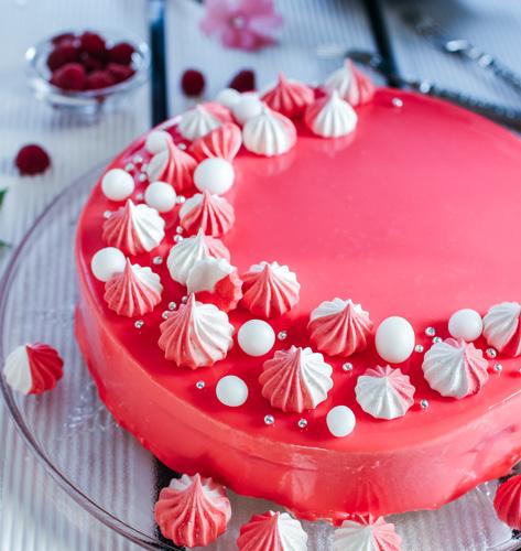 Malina mousse torta