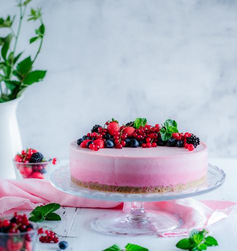 Ombre malina cheesecake