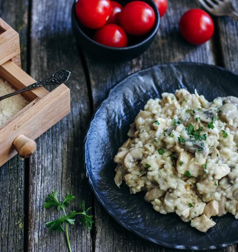 Rižoto s piletinom i gljivama