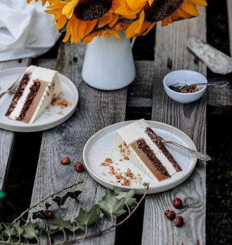 Mouss torta s karameliziranim lješnjacima