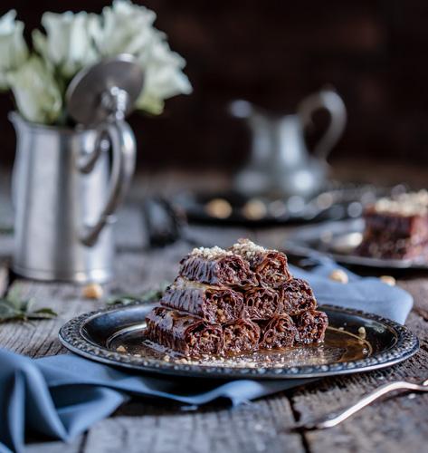 Baklava s čokoladom i lješnjacima