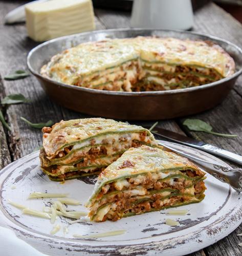 Lasagne sa zelenim palačinkama