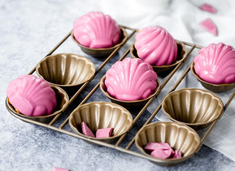 Roze madeleines